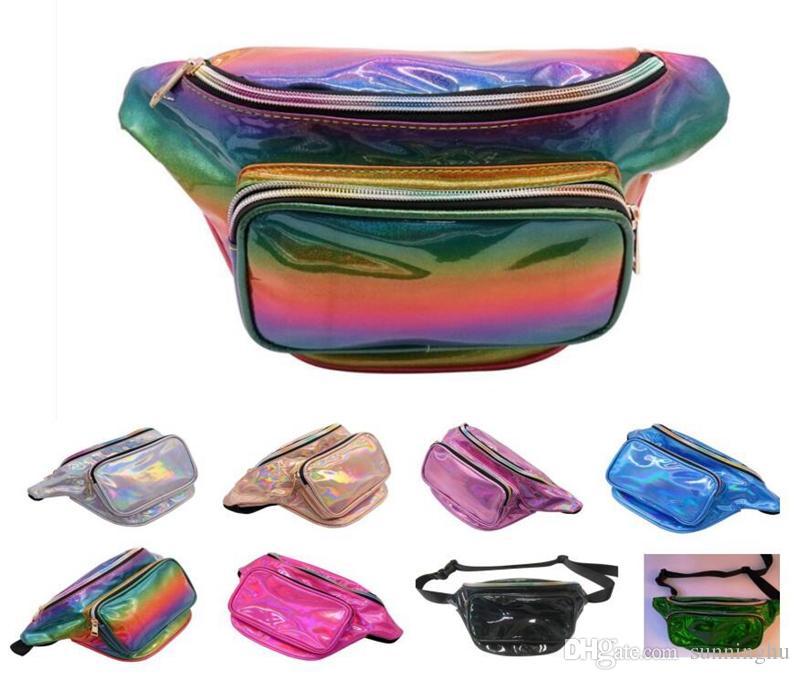 Shining Bling Glitter Lazer Bel Ourdoor Spor Çantaları Telefonlar için Cep Telefonu Yetişkinler için Messenge Kozmetik Çantaları Kızlar için Kese Kal ...