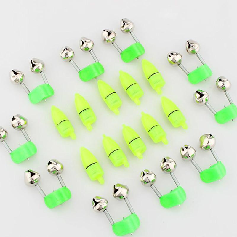 10pcs / lot LED notte accessori pesca pesca campana gemello galleggiante campanello anello morso allarme spedizione gratuita