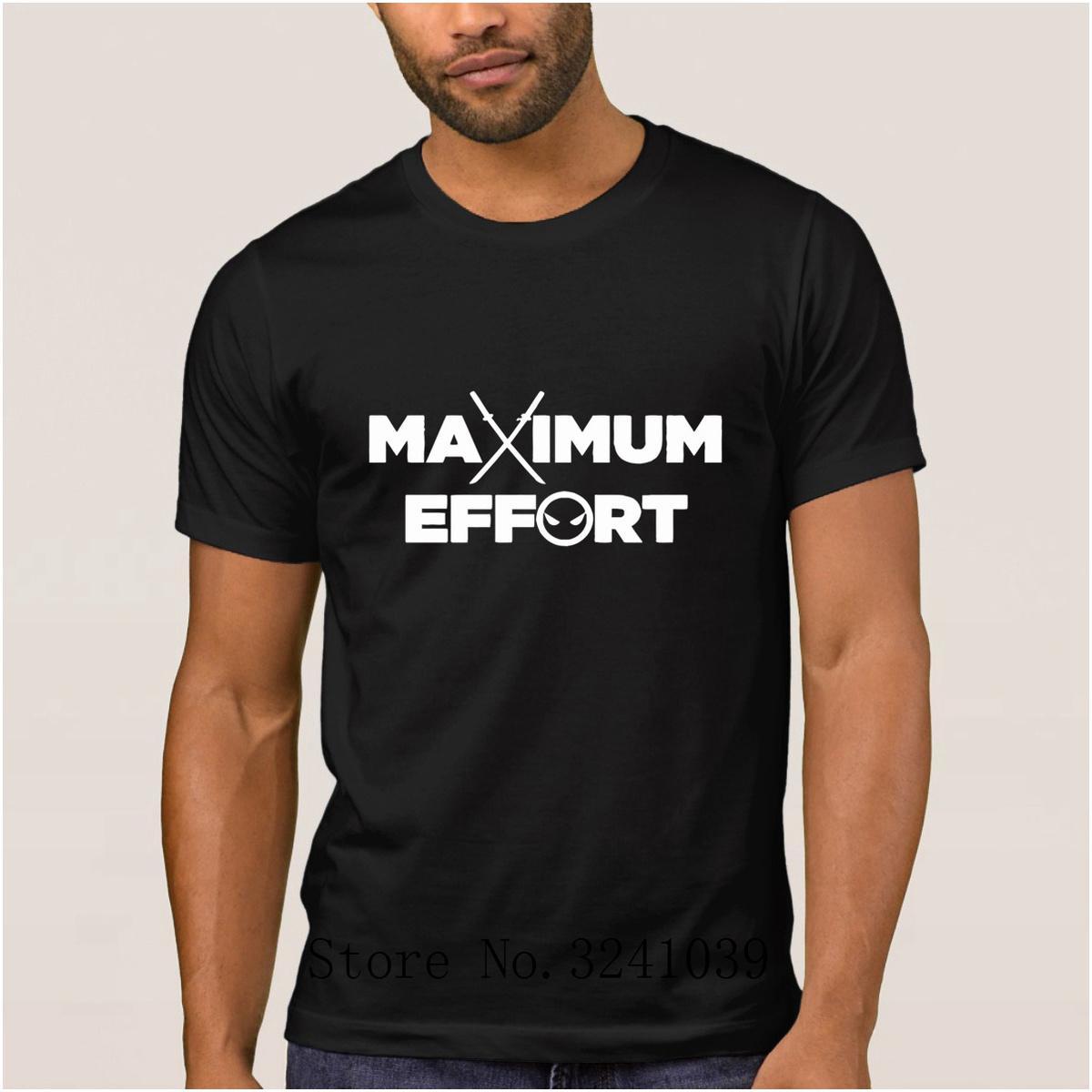 La Maxpa creare Meglio massimo sforzo maglietta per uomo estate Fitness t-shirt uomo Kawaii tee shirt uomo 100% cotone Basic Solid