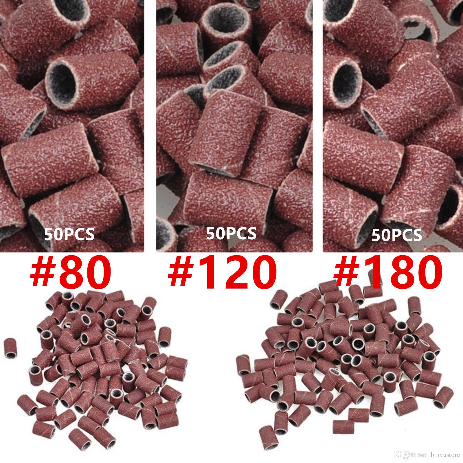 Wholesale Brand New 1000 PCS Sanding Band #80 #120 #180 Replacement Bits Nail Art Grit Pedicure Drill
