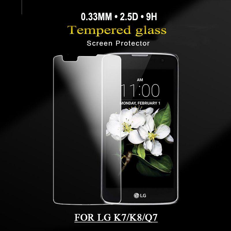 ultra mince pour LG BELL02 protecteur d'écran en verre trempé verre anti-choc film protecteur avec emballage de détail pour LG X5