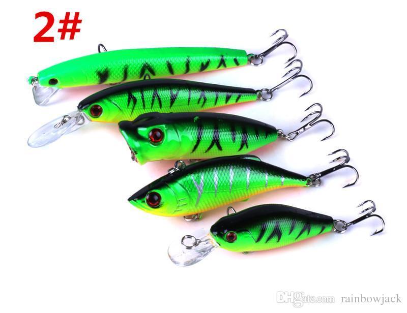 5stys abs البلاستيك يطير الصيد الطعم مجموعة عيون 3d الأخضر أو الفضي اللون الليزر أسماك rattlin كرنك الصعب إغراء