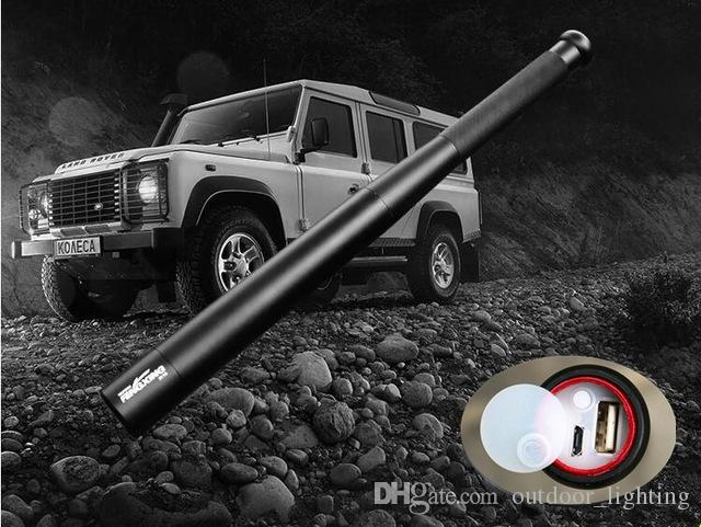 USB charger Baseball Bat LED Flashlight T6 Self Defense 8000LM 5modes Flash light for camping Built-in 2*18650 battery