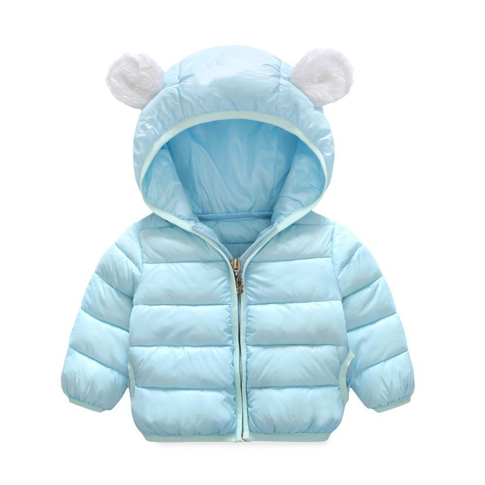 طفل الفتيات سترة 2017 الخريف الشتاء سترة للفتيات معطف الاطفال الدافئة مقنعين قميص الأطفال ملابس الرضع معطف