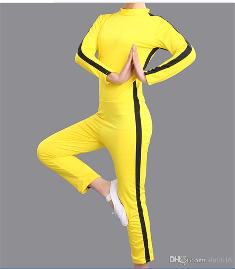 Mulheres Activewear Meninos Esporte Vestuário Kung Fu Uniforme para Homens Meninas Treino Sportswear Jogo da Morte Cosplay Traje Crianças