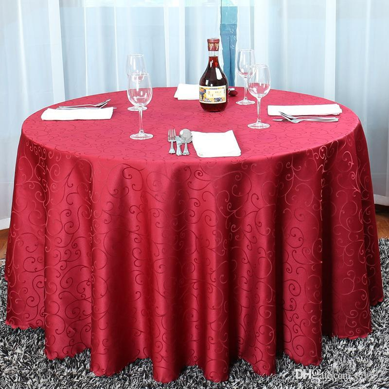 Brief Design-Hotel Jacquard-Tischdecke Mode-Stil Tischtuch Restaurant Round Table Rock Tick für Hauptdekorationen 51by3 ZZ