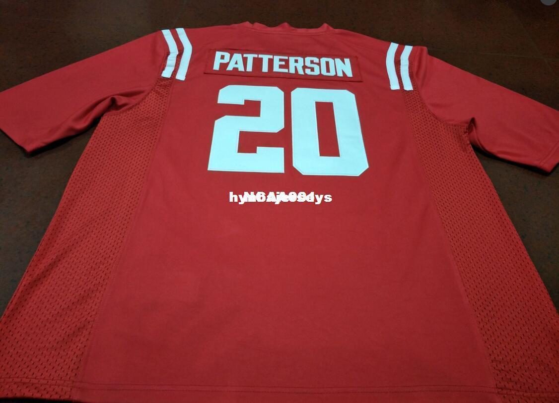 Cheap Men # 20 Top alta calidad Red Shea Patterson Ole Miss Rebels Alumni College Jersey XS-6XL o personalizada cualquier nombre o número jersey