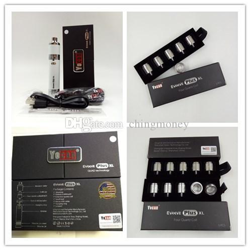 Starter kit Yocan Evolve Plus XL di vaporizzatore di cera QUAD Bobina Quad Quatz Bobina per Evolve Plus XL Kit Dab Pen