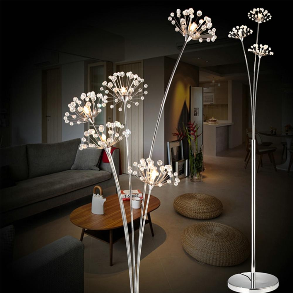 2019 Standing Lamps For Living Room Floor Lamp Kids Long Floor Stand Lamp  Chrome Cloth Fabric Loft Modern Lights E27 110 240V From Kirke, &Price; |  ...