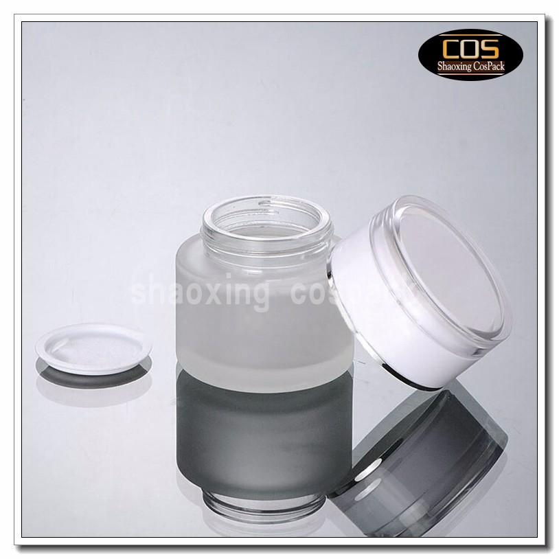 JGX21-50g Glass Cream Container with white cap (2)