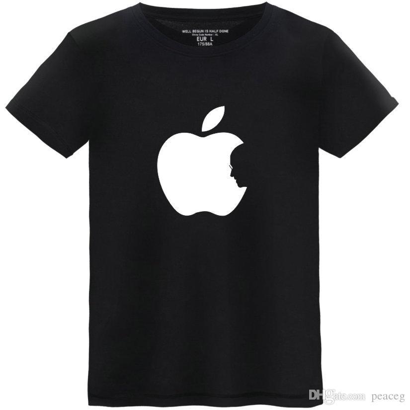 T-Shirt Black All Size APPLE 3 BLACK