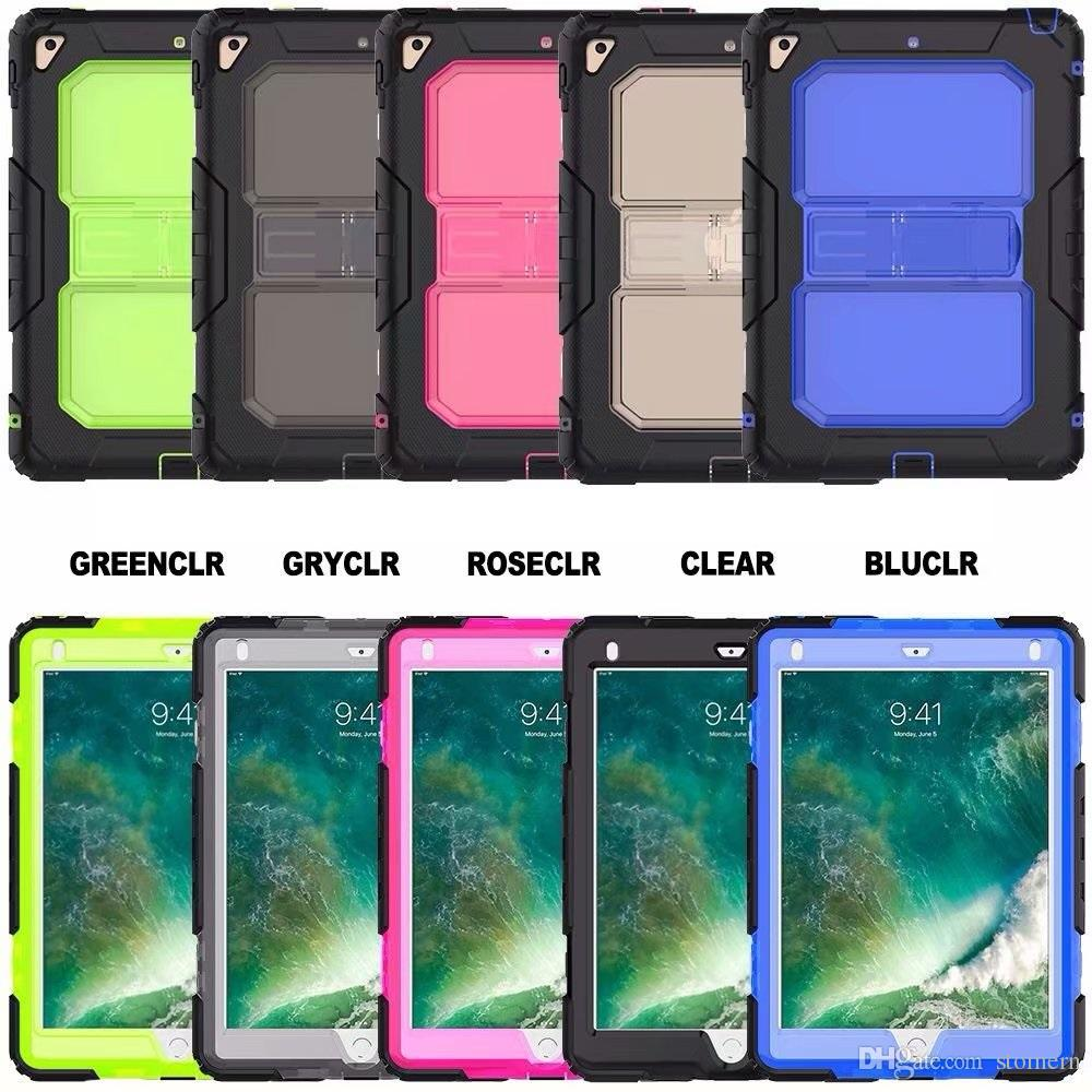 Heavy Duty Case For iPad Mini 1 2 3 4 Air Pro 9.7 10.5 New iPad 2017 2018 Rugged Tough Impact Hybrid Armor Cover Silicone PC Defender Shell
