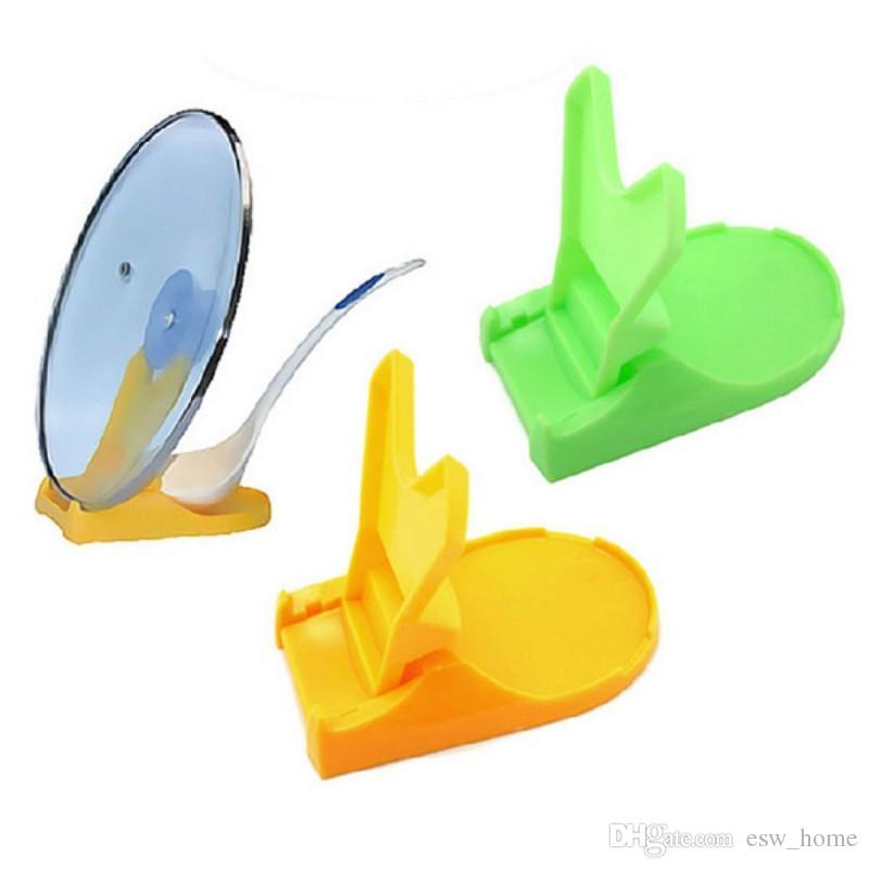 Multifuncional Cuchara Olla Tapa Estante Cocina Almacenamiento Decoración Herramienta Sostenedor del Soporte 2 Colores Creativo de alta calidad