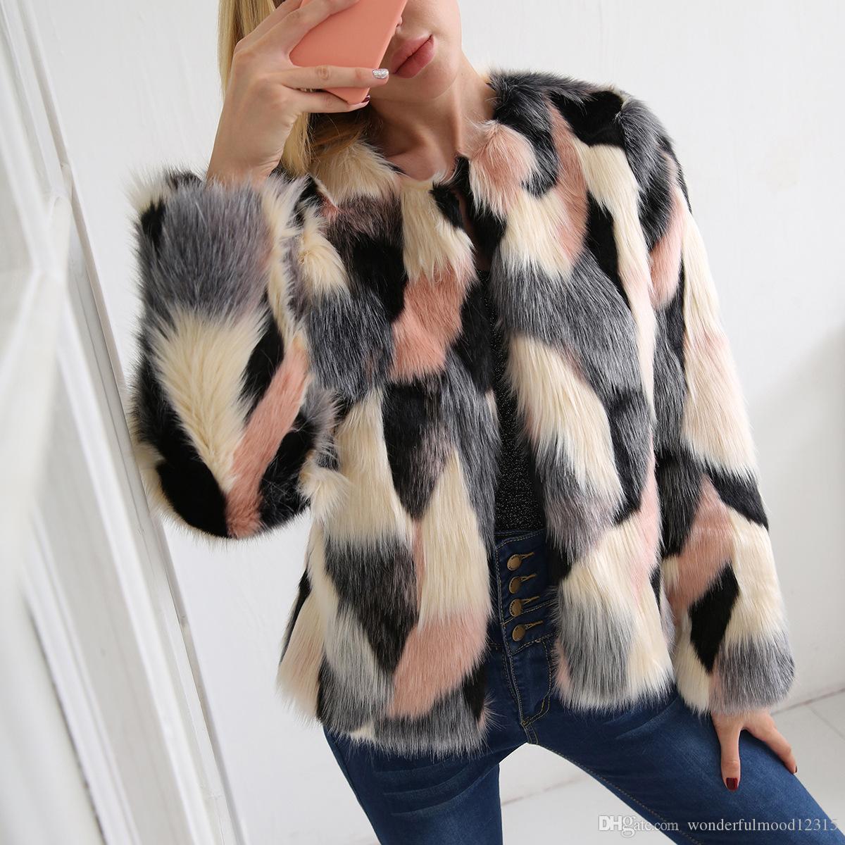 Осень и зима Женская одежда новый стиль высокая имитация Лисий мех пальто женщин хит Цвет короткие искусственного меха пальто