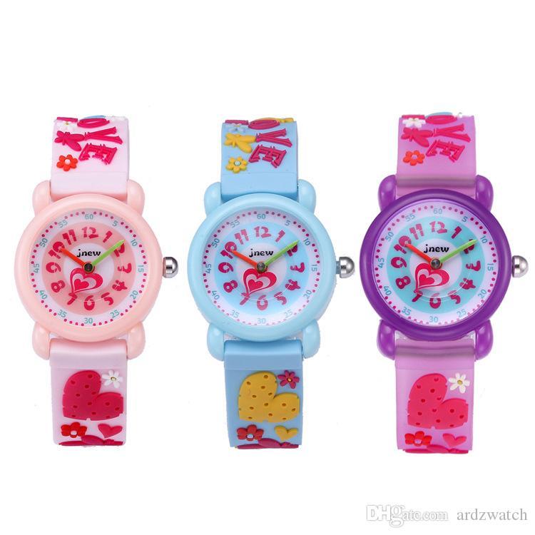 Kid Watch 3D Cartoon butterfly Lovely Kids Girls Boys Children Students Quartz Wrist Watch Very Popular Wristwatc Sports Clock
