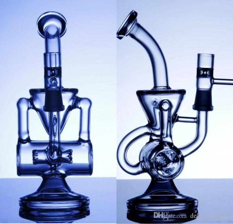 двухместный переработчик бонг водопроводные трубы Кляйн пара переработчик нефтяных вышек стакан воды трубы пульс био даб нефтяной вышке бонг стекло кальяны