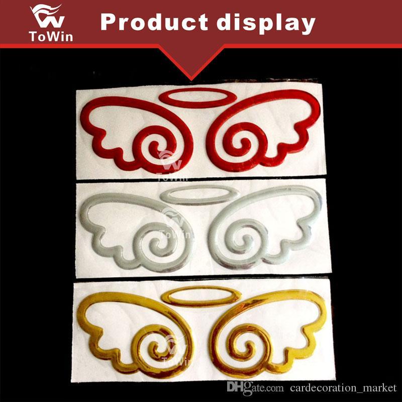 Auto Body Post 3D stereo araba çıkartmaları, Melek kanatları otomobil etiketi, Otomobil logosu etiketler / Dekorasyon / Aksesuar.