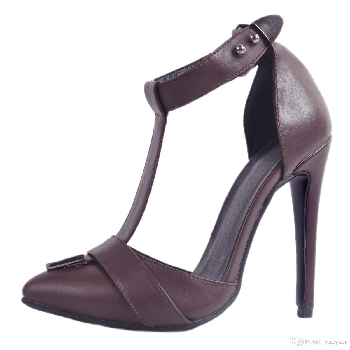 Zandina Das Mulheres Artesanais Das Mulheres de Salto Alto Sandálias T-cinta Apontou Toe Simples Casual Partido Dailywear Sapatos Da Moda A024