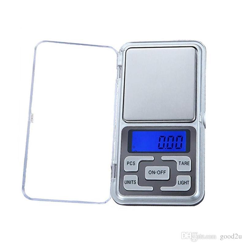 200g / 500g Mini Balança Digital de Bolso para a Jóia de Ouro Cozinha Peso Eletrônico Grama Escala 0.1 / 0.01g Display LCD com Luz de Fundo