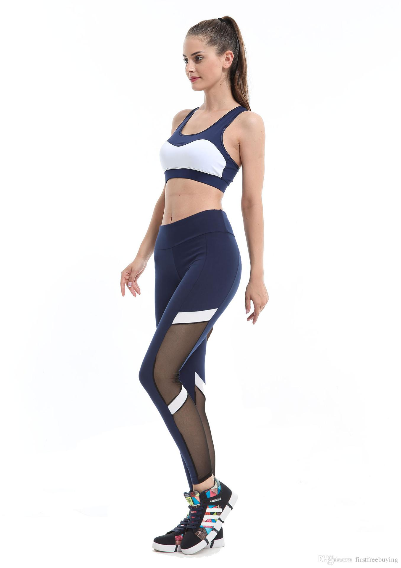 1 Pc/Lot Fashion Four Seasons Sports Yoga Pants Women's Legs Hollow Stretch Fitness Sports Trousers Pants ladies leggings