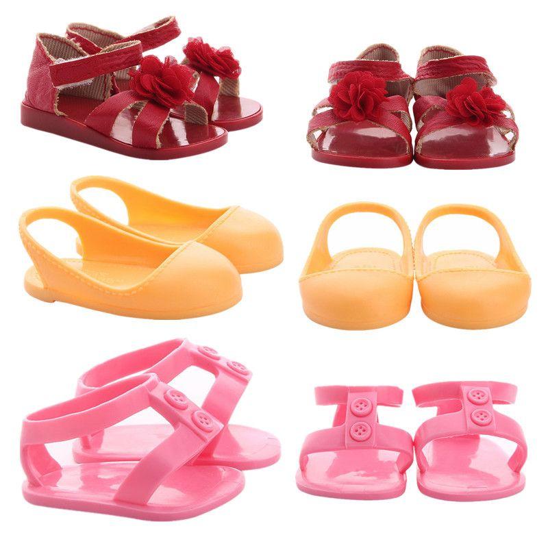 Mode 18 Zoll Puppen Sandalen Schuhe 18 Zoll American Doll Schuhe Zubehör