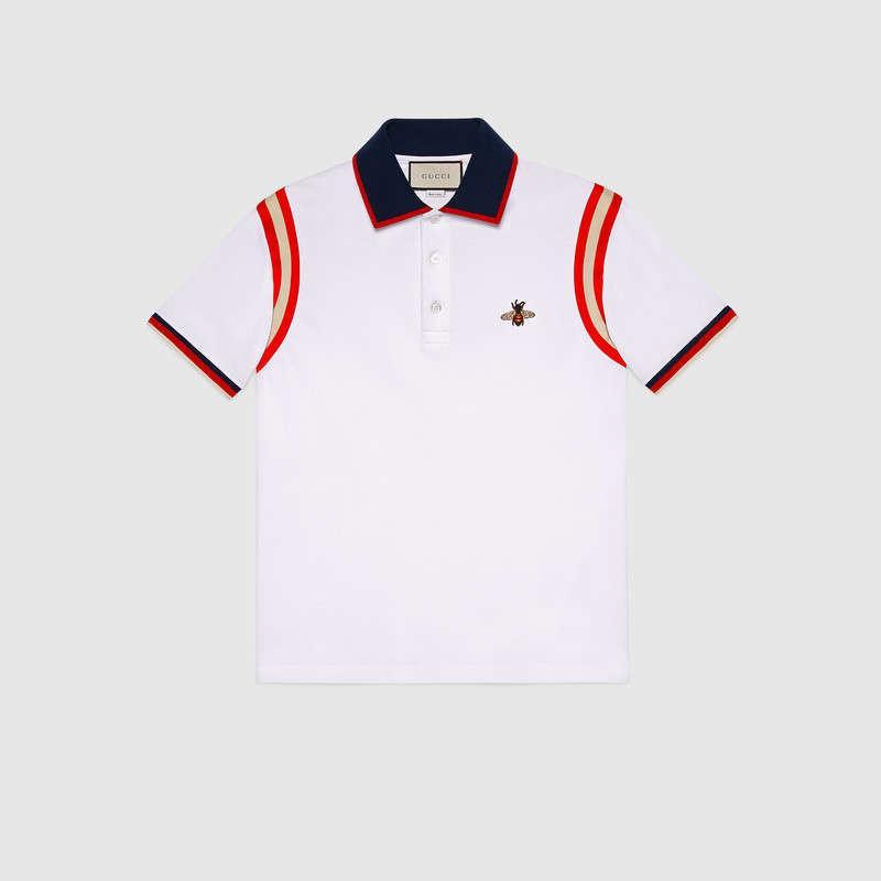 Mens Designer Camisas Polo Moda Masculina T-shirt Bordado Abelha Polo de Manga Curta Marca Top Básica Streetwear Moda T-shirt M-3XL