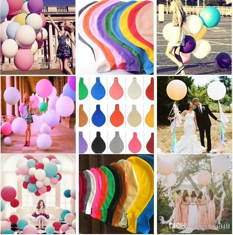New 36 Inch Large Baby Shower Decor Balloon Birthday Wedding Party  Decoration Kids Natural Latex Giant Balloons I144 Birthday Party Things  Birthday