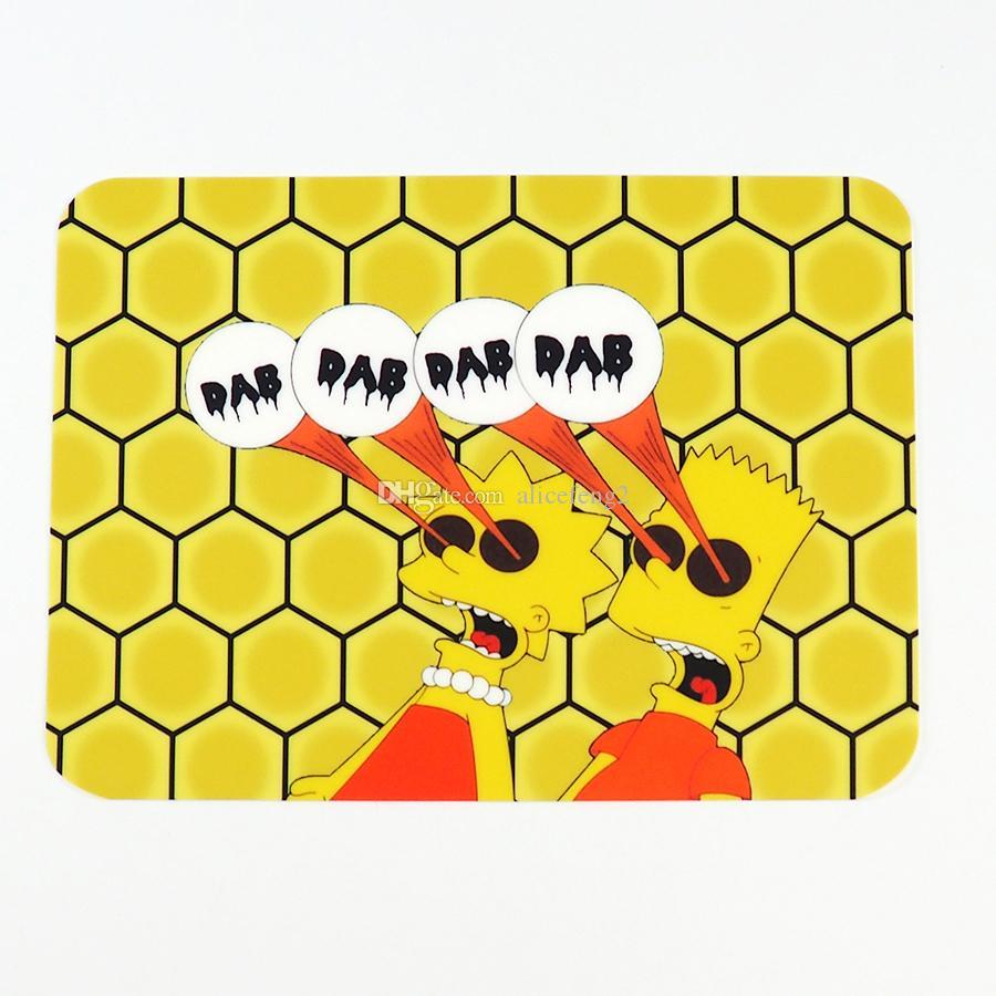 FDA Brand New Resistência Ao Calor Não-stick Silicone Baking Mat Anti Slip Mat Dab Extratos de Óleo De Cera Silicone Personalizado Dab Mat