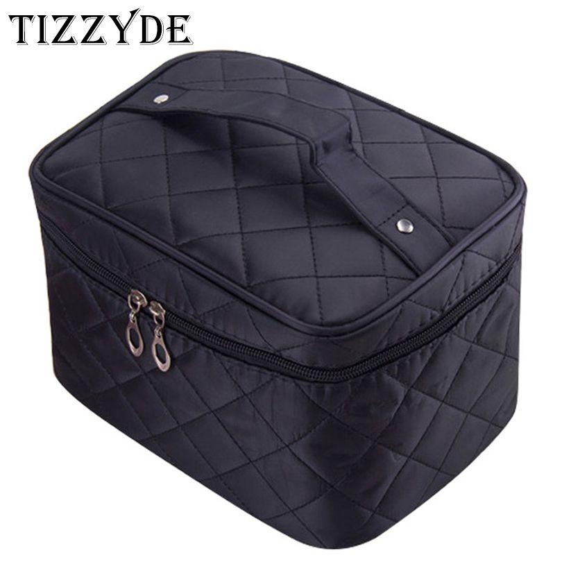 مستحضرات التجميل Orgnizer 2018 أنثى مبطن المهنية حقيبة مستحضرات التجميل النسائية سعة كبيرة تخزين حقيبة سفر أدوات الزينة حقيبة ماكياج ML1