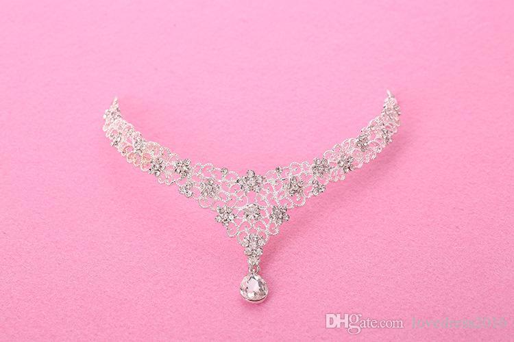 실제 사진 2019 Bridal Chain Headwear Accessories Bridal Head Frontlet 다이아몬드 이마 눈썹 펜던트 Bride Jewelry Headpieces