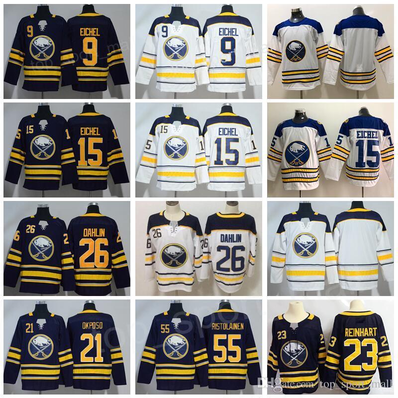 Buffalo Sabres 9 Jack Eichel 26 Rasmus Dahlin Trikots Hockey 21 Kyle Okposo 55 Rasmus Ristolainen Winter Klassiker Mann Frau Jugend