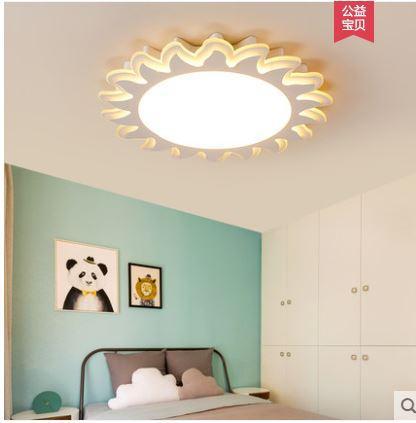 Grosshandel Kinderzimmer Deckenlampe Madchen Junge Fuhrte Augenschutz Schlafzimmer Lampe Warm Einfache Moderne Sonne Blume Zimmer Licht Von Alluring
