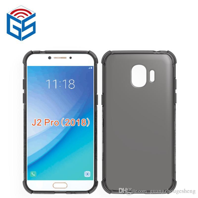 For Samsung Galaxy J2 Pro 2018 J250 J250F Grand Prime Pro J6 (2018) J4 2018 Clear Case Anti-knock Edge Transparent TPU Cover