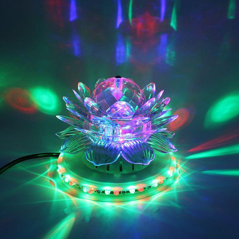 RGB 주도 무대 조명 자동 회전 디스코 볼 램프 효과 매직 파티 클럽 조명 크리스마스 홈 KTV 크리스마스 웨딩 쇼 펍에 대 한