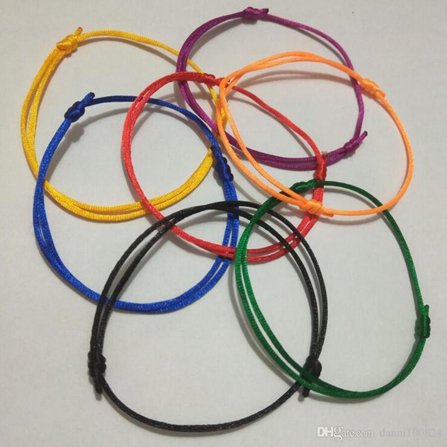 Transporte rápido 14 pçs / lote KABBALAH MÃO Feito Multicolor Pulseira Corda Jóias Kabala Boa Sorte Pulseira de Proteção-Proteção do amor A3