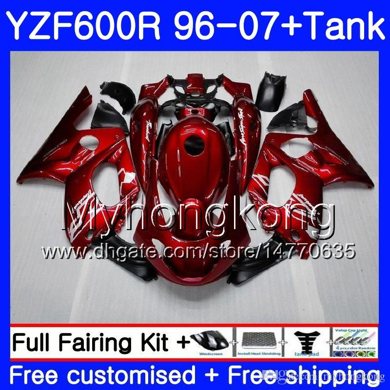 Corpo + Tanque para Yamaha Thundercat YZF600R 96 97 98 99 00 01 229hm.0 YZF-600R YZF 600R 1996 1997 1998 1999 2000 2001 Gloss Factory Red
