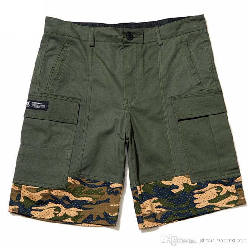 Sommer Mens Cotton Shorts Militär Cargo Shorts Neue Armee Camouflage Shorts Männer Baumwolle Arbeit Lässige Kurze Hosen