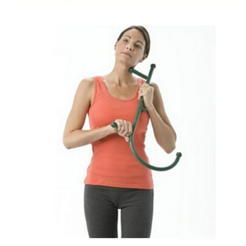 Thera Cane Back Hook Masajeador Cuello Auto-muscular Barra de presión Herramienta Manuel Trigger Point Punto original Varilla de masaje