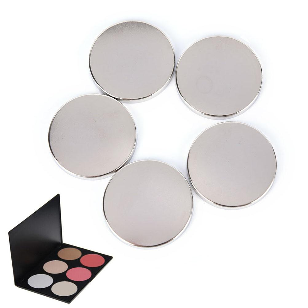5pcs/15pcs Pink Shiny Gift DIY Refill Empty Magnetic Eyeshadow Palette Concealer Pans With Blush Lipstick Palette