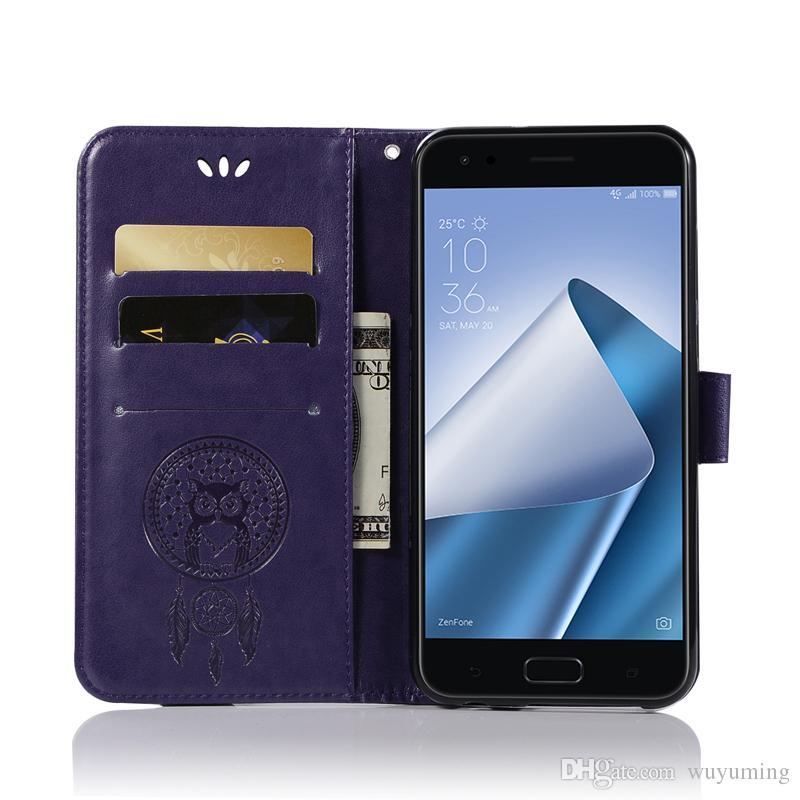 5.5inch luxo retro pu leather case para asus zenfone 4 ze5554kl titular do cartão carteira de telefone capa para asus zenfone 4 case fundas