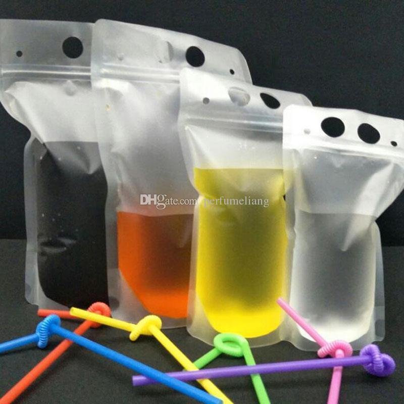 250 مل ، 750 مل ، 1000 مل كيس من البلاستيك الشفاف المتجمد الشفاف حقيبة الحقيبة للمشروبات عصير حليب القهوة QW8772