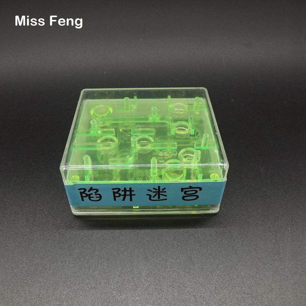 Modelo lindo divertido Mini Laberinto Cubo Juguetes educativos Juego de cubo Regalo de cumpleaños Regalo de Navidad Rompecabezas