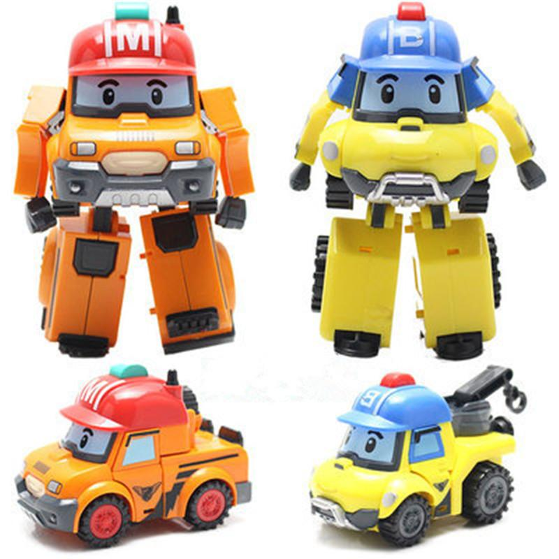 Poli Robocar Bubble toys 4 models South Korea Poli robot transformer Car mark and Porch ABS With box