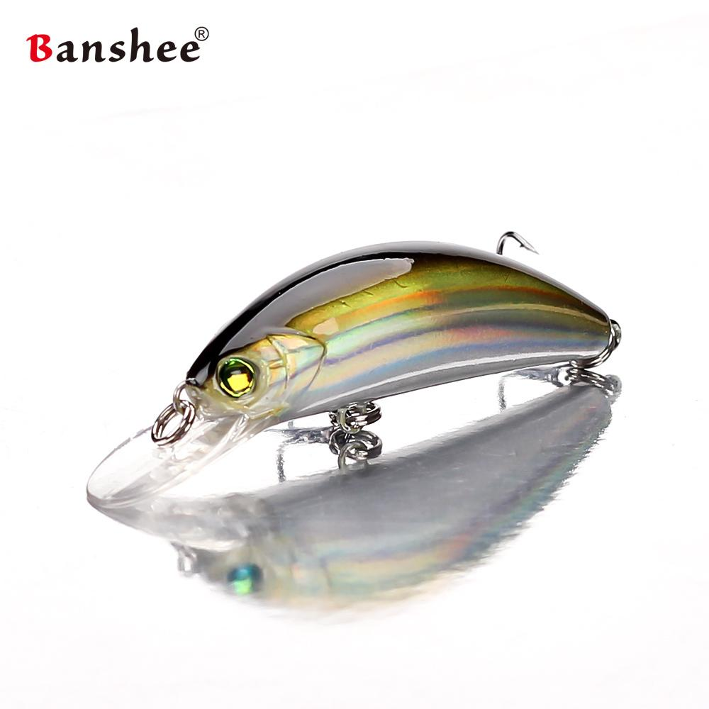 Banshee 45mm 4.7g floating Fishing Lures GO-CM001 for Trout Bass Small Shallow Diving Crankbait Hard Artificial Bait Y18100806