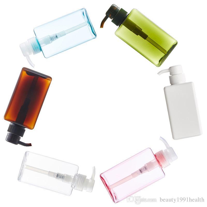 New 250ml Cosmetics Air Pressure Foam Pump Square Packaging Plastic Bottle Liquid Soap Shampoo Lotion Press Bottle
