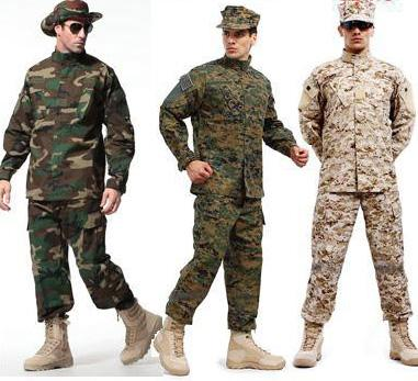 Army Tactical Uniform Shirt + Pants Camo Camouflage ACU FG Combat Uniform US Army Men's Clothing Suit Hunting