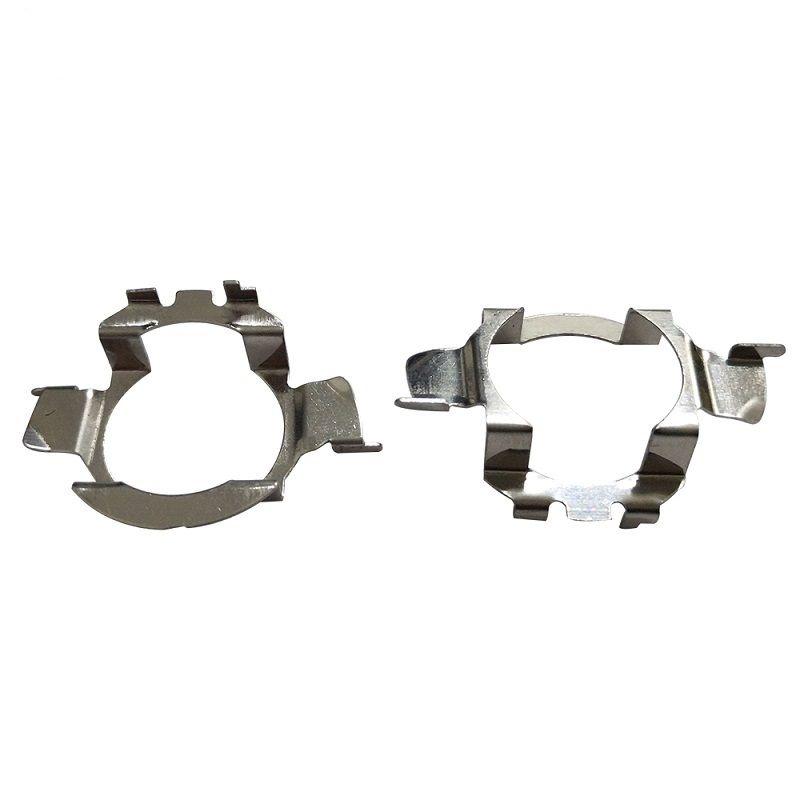 10Pair H7 Coche LED Faros Adaptadores Bombilla Bombilla Bombillas para BMW E60 E61 para VW MK6 Nissan Qashqai Lámpara LED para Audi A3