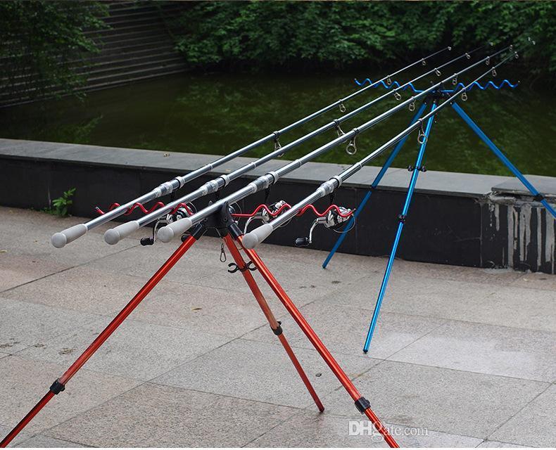 Mar polo Andamio trípode caña de pescar caña de pescar aleación de aluminio caña de pescar telescópico soporte multifuncional