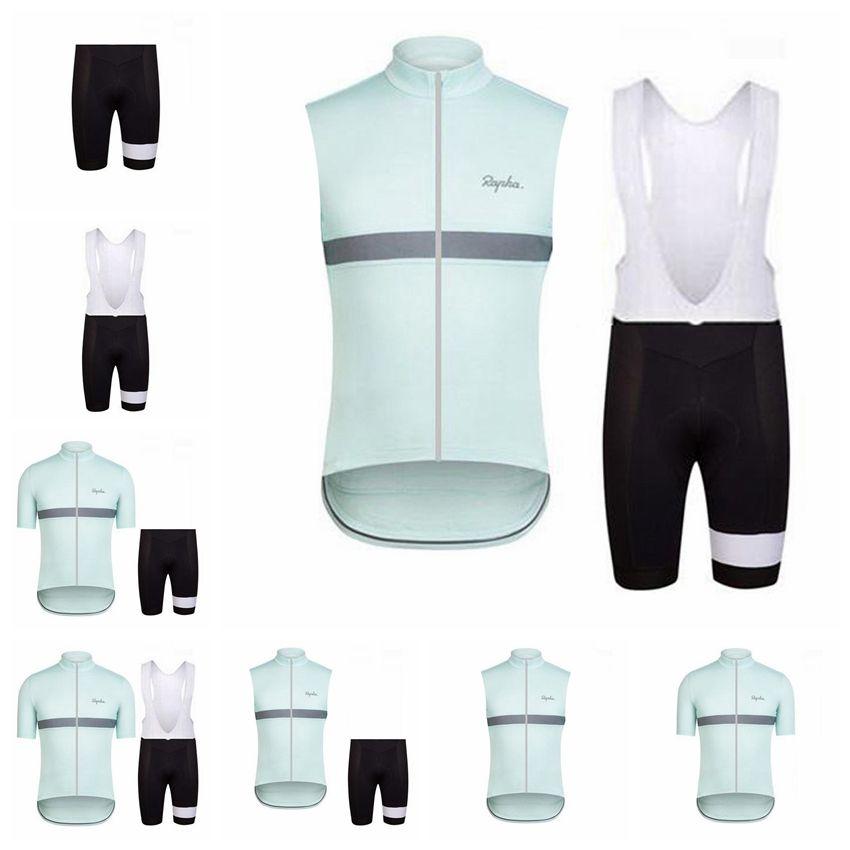 2018 Rapha new summer mountain bike short-sleeved cycling jersey kit quick-dry men and riding shirts bib shorts set 3D gel pad 90715Y