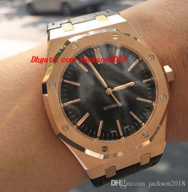Reloj de pulsera de lujo Rose Gold 41mm 15400or.oo.d002cr.01 Nuevo reloj de moda de hombres mecánicos automáticos